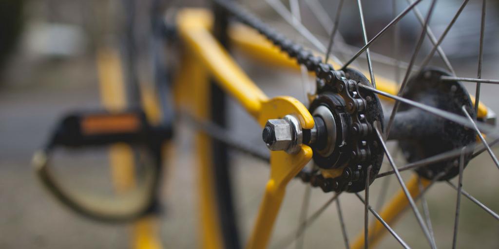 closeup of a bike