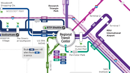 GoTriangle map closeup