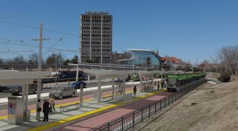 light rail mockup