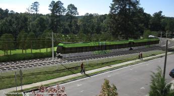 light rail rendering